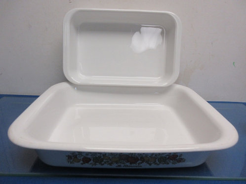 "Corningware Spice of Life-2 pc rectangular baker set, 10x12x2.5"" &7x10x2"""