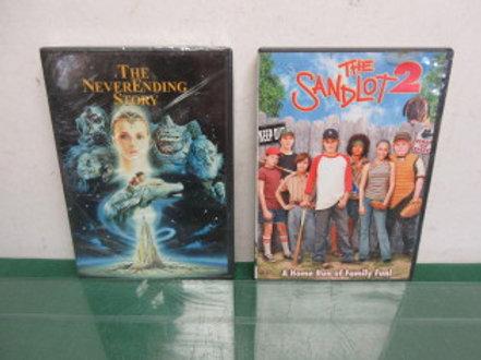 Set of 2 DVD's, Sandlot 2, Never Ending Story