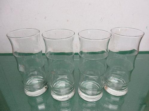 Set of 4 tall glass tumblers
