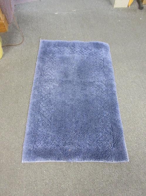 "Blue rubber back bathroom rug 21x34"""