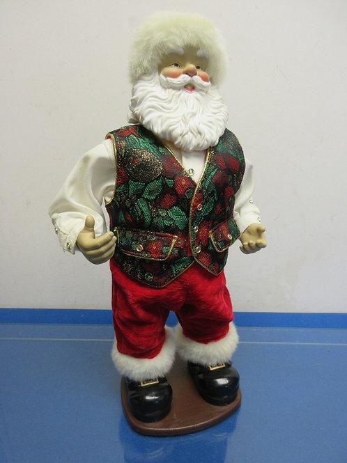 "Santa statue wearing a vest 16"" high"