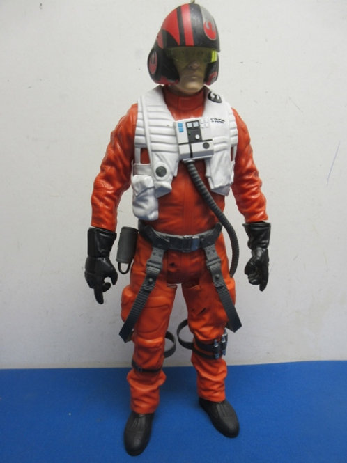 "Star Wars Episode VII - 18"" Poe Dameron Action figure in orange flight suit"