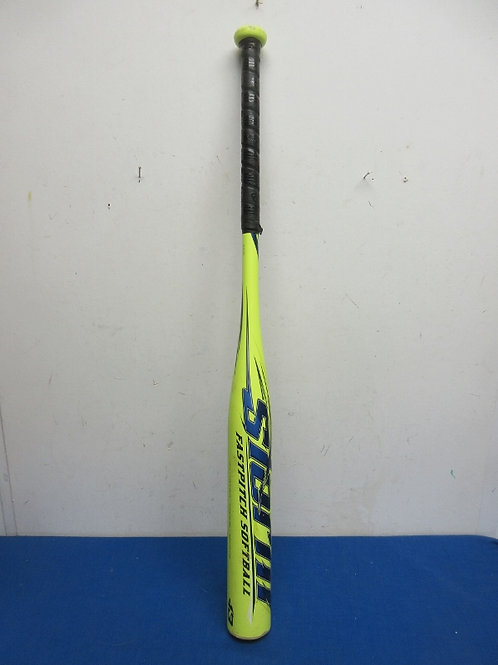 Storm yellow fast pitch softball bat with whiplash flex handle