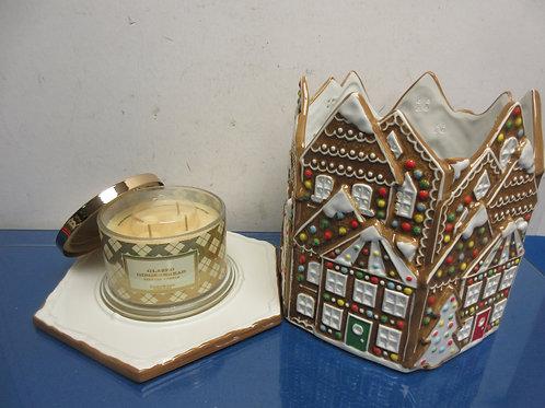 Homeworx by Harry Slatkin gingerbread house w/4 wick candle