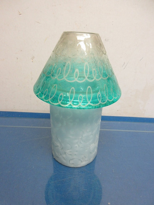"""Electronic 6"""" pillar candle with glass shade"""