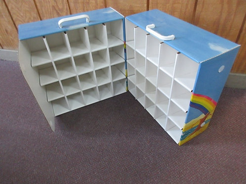 CArdboard case for toys, dolls, or cars, 40 small slots