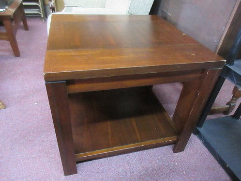 """Cherry tone end table 2 tier, 27x27x24""""high"""