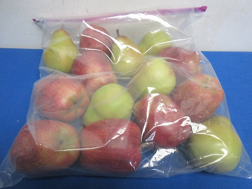 Set of 14 faux apples and pears