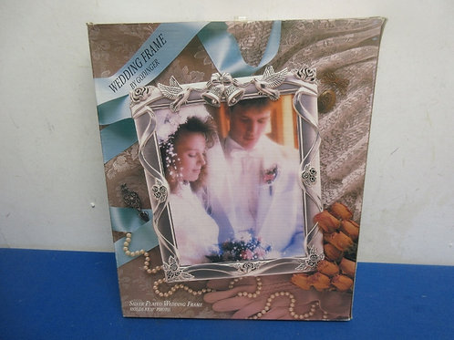 Goldinger silver plated 8x10 wedding frame