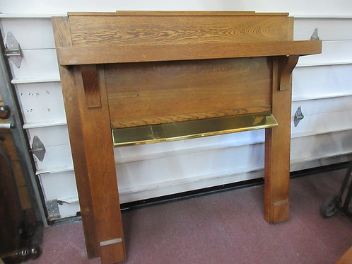 Solid tiger oak mantle 58x60- opening 31x41