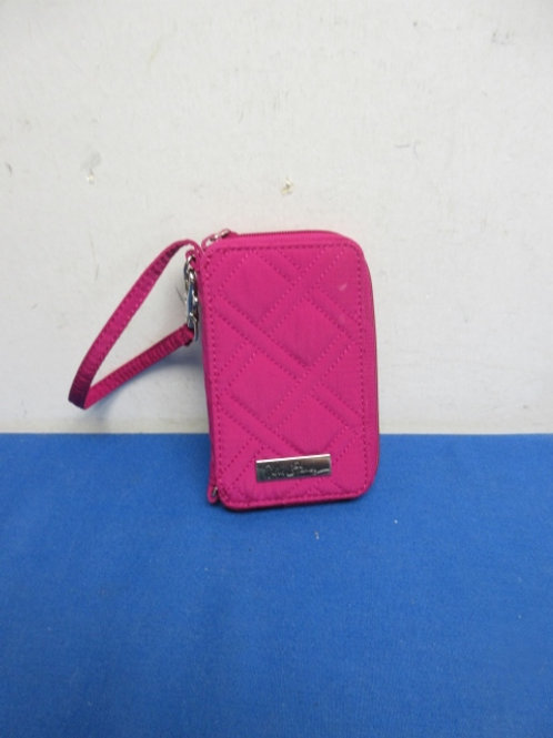 Vera Bradley  small wristlet pink fabric wallet with strap