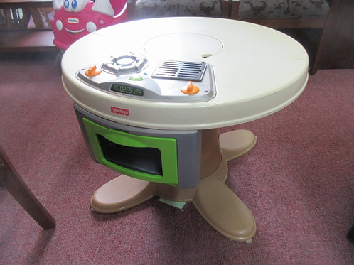 Fisher Price cook n serve toy table with built in range top and  oven