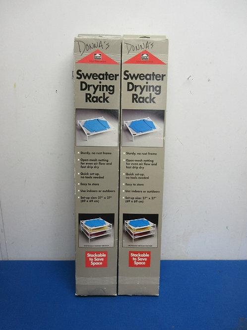 Design trend set of 2 sweater drying racks
