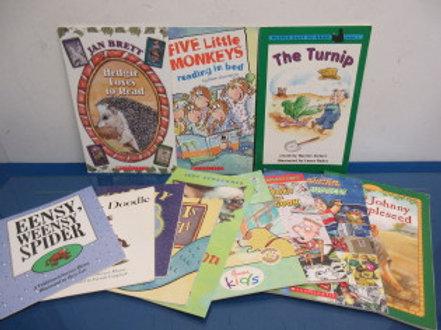 Set of 12 assorted children's reader books - paperback