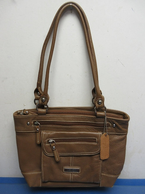 Croft & Barrow medium brown purse with 2 handles