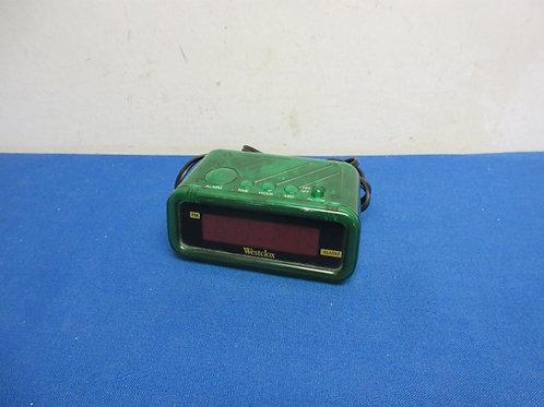 Westclox green digital electric alarm