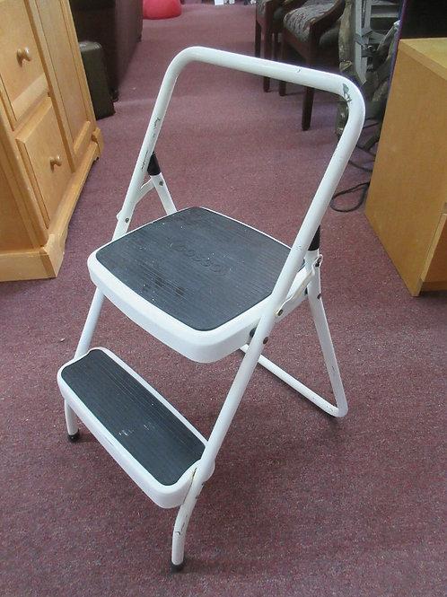 Cosco white metal 2 step folding step stool