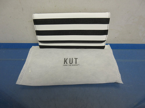 """Black and white ladies leather wallet, """"Kut from the cloth"""""""