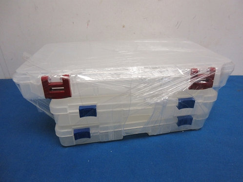 Set of 3 plastic divided organizing containers