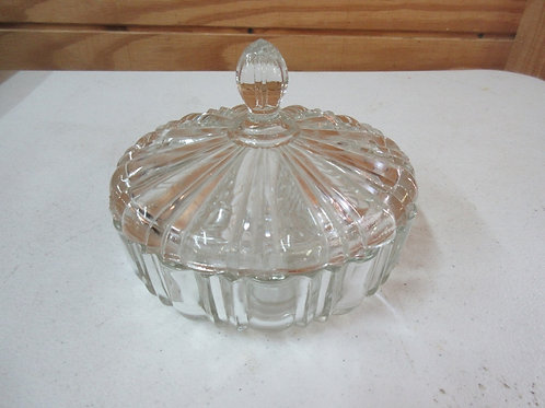 Cut glass candy dish with lid