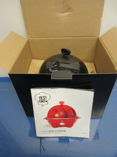 Yes Chef, black electric rapid egg cooker & poacher,