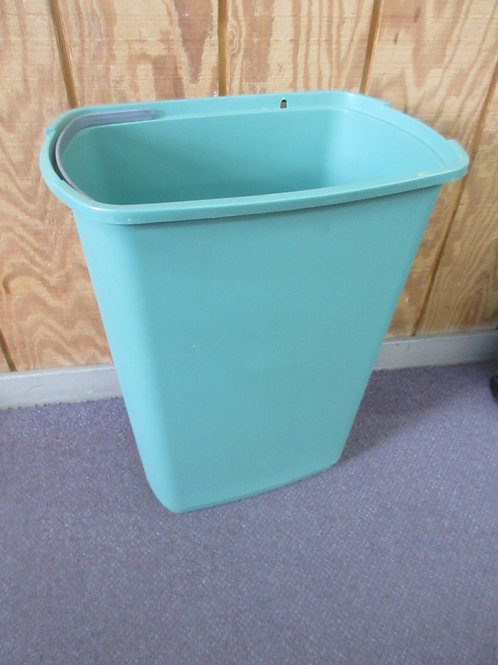 "Green rectangular trash can 12x17x23""high"