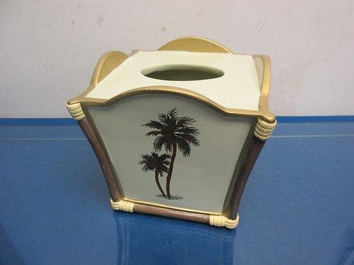 Cube Kleenex box cover, palm tree design