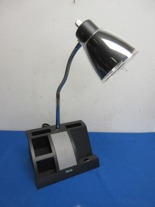 Goose neck desk lamp with small storage in base