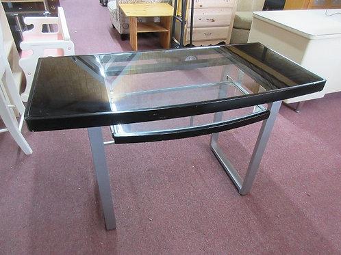 "Metal frame glass top desk w/slide out keyboard tray 48x23x30""high"