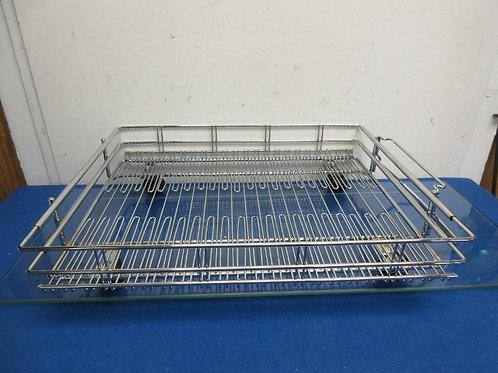 Chrome low shelf organizer on wheels