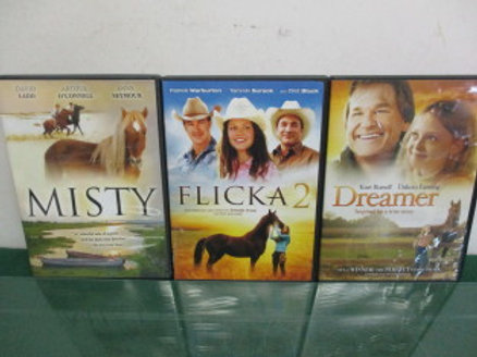 Set of 4 horse movies - Misty, Flicka 2, Dreamer