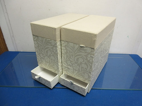 Set of 2 Photo storage boxes with drawers