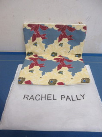 Rachel Pally leather and floral design fold over clutch w/protective storage bag