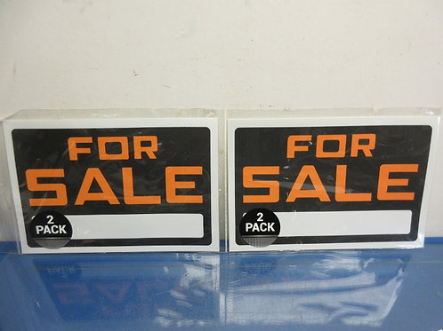 """""""For Sale"""" signs, two packs of 2 signs, 8x12"""""""