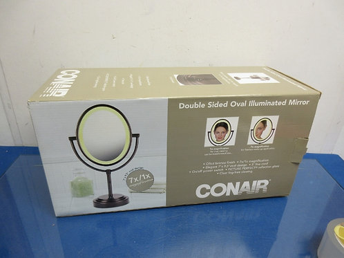 Conair double sided oval illuminated make up mirror