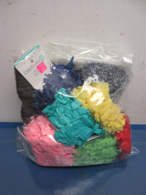 Small bag of assorted paper fringed trim