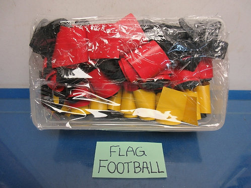 Flag football set, 10 red and 10 yellow