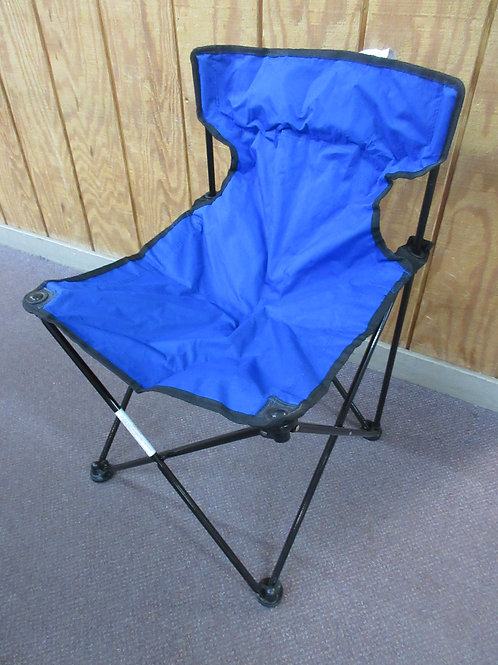 Blue folding sports chair in carry bag, 225lb max, 2 available