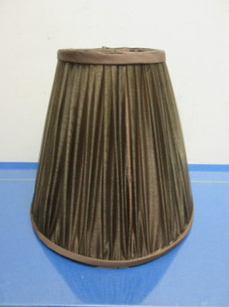 """Brown pleated lamp shade 10"""" high"""