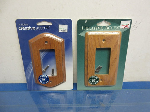 Pair of wooden switch covers