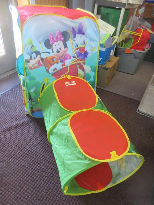 Playhut Mickey Mouse Clubhouse pop up tent with connected tunnel