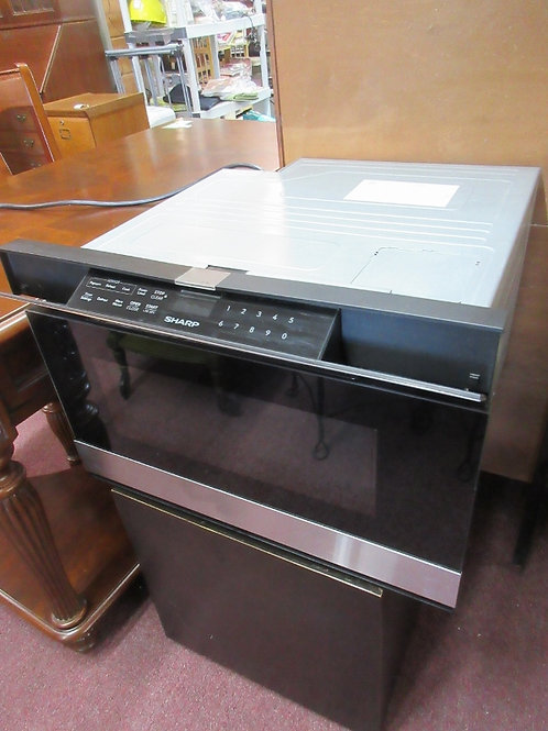 Sharp built in microwave drawer with easy touch control - stainless and black