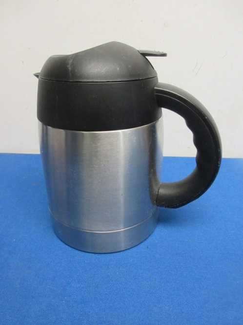 Brushed stainless and black carafe