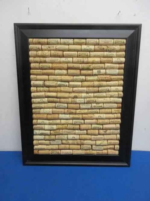 Black framed wine bottle corks - 17x21