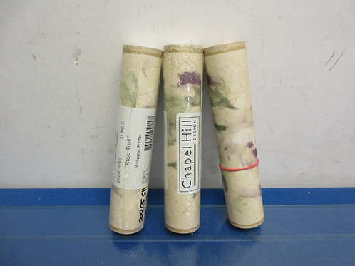 Set of 3 rolls of rose trail wall paper border