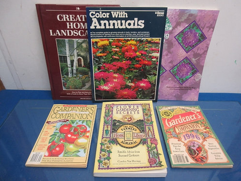 Set of 6 landscaping, painting and gardening books