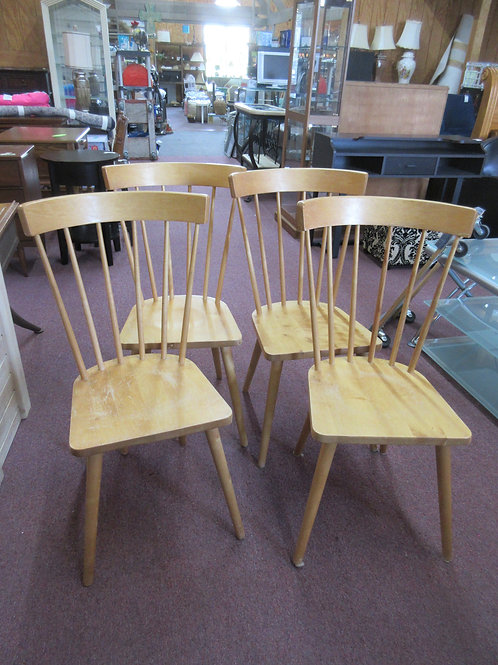 Set of 4 Ikea Bernby natural tone chairs