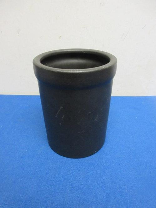 Black heavy ceramic kitchen utensil holder