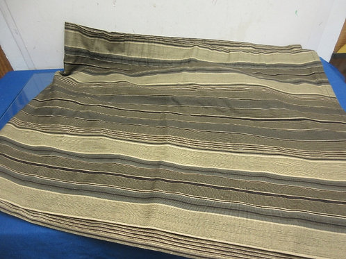 Tan and brown horizontal striped 9ft valance