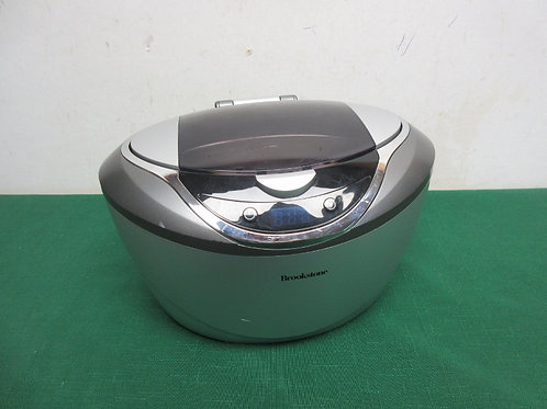 Brookstone electric ultrasonic cleaner - silver